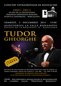 concert Tudor Gheorghe in Barcelona